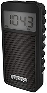 Brigmton BT-126 Portátil Digital Negro - Radio (Portátil, Digital, Am,FM, 88-108 MHz, 522-1620 kHz, 50 dB)