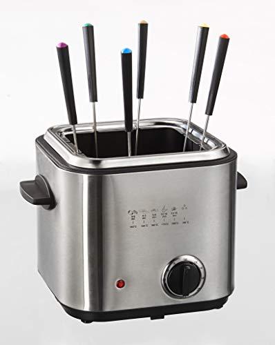 Mini-Fritteuse & Fondue-Set, Edelstahl, 1,2 Liter, 840 Watt