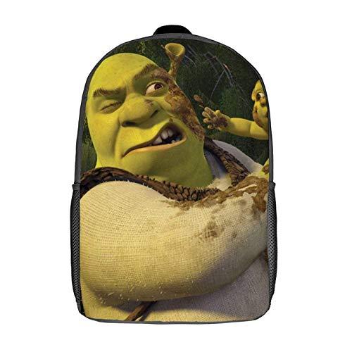 QUEMIN Mochila Shrek Leisure, mochila clásica para computadora portátil de 17 pulgadas, mochila para acampar, mochila de viaje al aire libre, mochila escolar universitaria