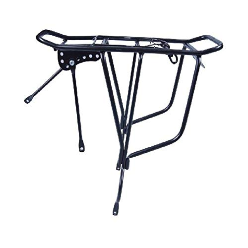 Lowest Price! Bicycle Carrier Rack 26 Inch Bicycle Carrier Rack Mountain Carrier Rear Rack Frame-Mounted for Heavier Top & Side Loads Bike Cargo Racks (Color : Black, Size : One Size)