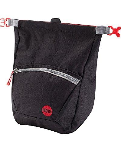 MOON Bouldering Chalk Bag Schwarz, Kletterzubehör, Größe One Size - Farbe Jet Black