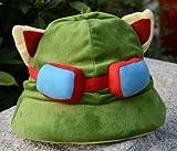 asx Gorro de nueva era para cosplay LOL Cosplay Swift Scout Teemo Cosplay Sombrero de felpa lindo Cosplay Cap Accesorios Accesorios Accesorios de ala ancha (Color: 1 sombrero)