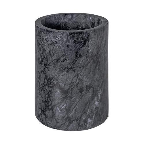 Argon Tableware Secchiello per Bottiglia di Vino in Marmo - Solida Pietra, per Mantenere in Fresco la Bottiglia - 13 x 18 cm - Nero