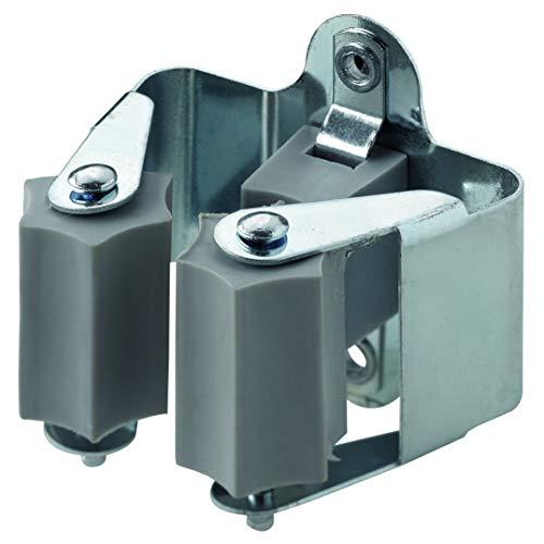 Hettich 9219986 Gerätehalter (Wandhalter) -Maße: 51 x 43 x 51 mm-Stahl, vernickelt, 8 STK