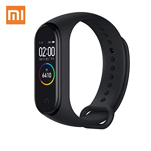 "AEE Xiaomi Mi Band 4 Health & Fitness Tracker Waterproof Exercise Band, Heart Rate Monitor 135mAh Battery Activity Tracker, Sports Watch 0.95"" Color AMOLED Display Bluetooth 5.0"