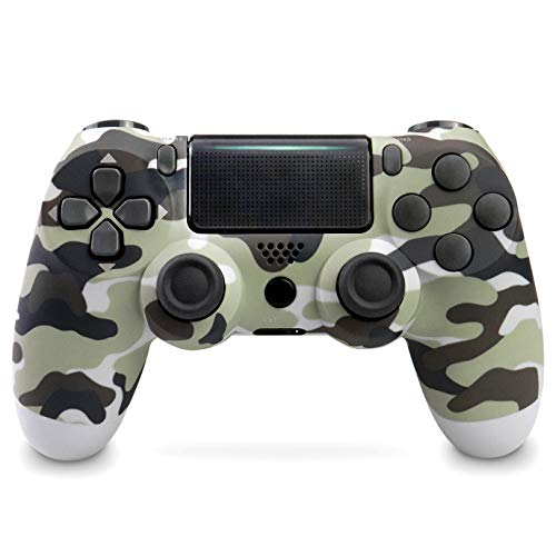 Game Controller for PS4,Wireless Controller for Playstation 4 with Dual Vibration Game Joystickfor Ps4/Pro/Slim-Gray Camouflage Remote