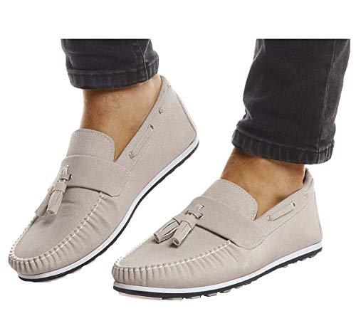 Leif Nelson Herren Mokassins Schuhe für Freizeit Sommerschuhe Business Slipper Casual Männer Freizeitschuhe für Sommer Elegante Herrenschuhe Sneaker Moderne Halbschuhe LN204