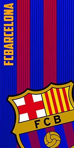 FCB FC Barcelona Toalla 100% Poliester, Azulgrana 70 X 140 Cm ✅