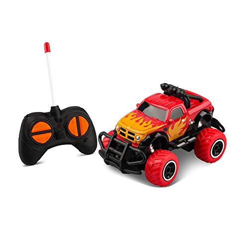 TENOL Jungen Spielzeug Autos für Baby Kleinkinder Alter 2-3, Fernbedienung LKW für 4-5 Jahre alte Kinder Off-Road-Fahrzeug 4-5 Jahre alte Jungen Pickup rot