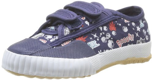FEIYUE Fe Lo Scratch Comics, Baskets Mode Mixte Enfant - Bleu (Navy/Comics), 22 EU