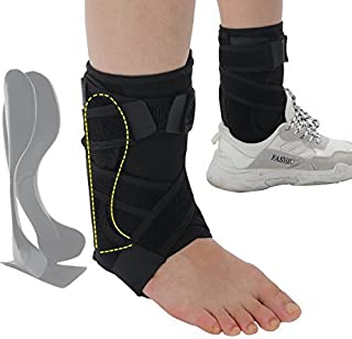 Rigid Ankle Brace Stabilizer,Medical Grade&FDA Approved Ankle Support w/Rigid Stay,Nonslip Strap Compression Ankle Wrap Protection for Ankle Pain Relief,Injury Prevent - R/L Foot,Men or Women
