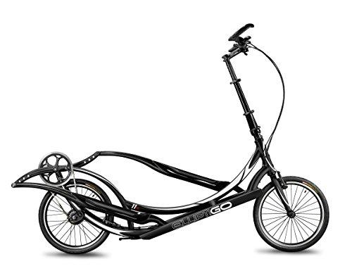 ElliptiGO 11R Long Stride Outdoor Elliptical Bike and Best Hybrid Indoor Exercise Trainer, Black
