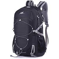 Mooedcoe 40L Mochila Senderismo Montaña Trekking Macutos de Viaje Acampada Marcha (Negro)