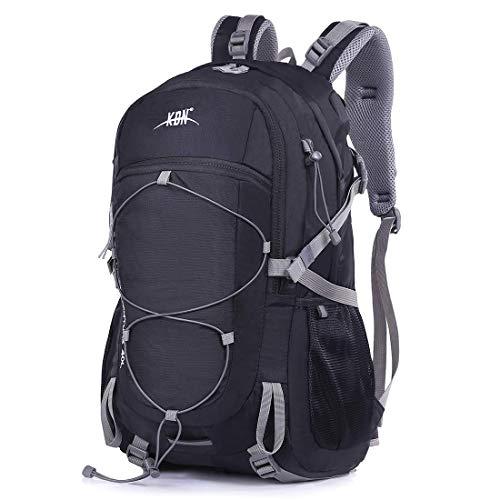 Mooedcoe 40L Mochila Senderismo Montaña Trekking Macutos de Viaje Acampada Marcha  Negro