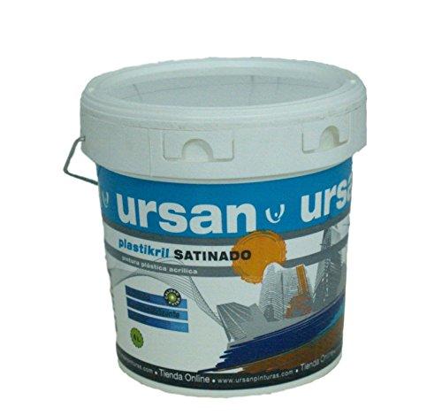 U URSAN 4020700 Plastikril Pintura Plástica Satinado Exterior, Blanco, 4 L