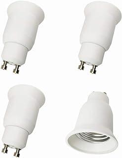 ZRUIZYAN 4 adaptadores de casquillo GU10 a E27 para lámparas LED