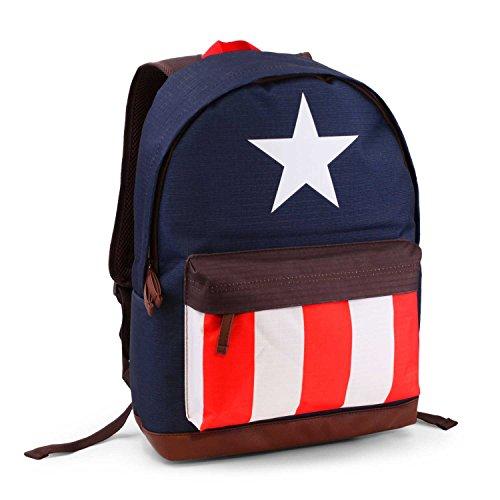 Karactermania 33552, Mochila HS Captain America - Avengers, 27 litros, Multicolor