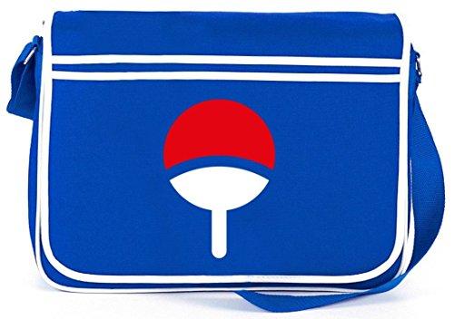 Shirtstreet24, Familie Uchiha, Retro Messenger Bag Kuriertasche Umhängetasche, Größe: onesize,Royal Blau