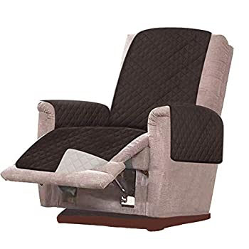 RHF Reversible Oversized Recliner Cover & Oversized Recliner Covers,Slipcovers for Recliner Recliner Chair Cover,Pet Cover for Recliner,Machine Washable XRecliner Oversized Chocolate/Beige
