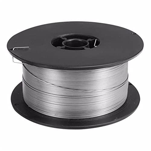 Ztengyu-Soldadura de alambre 1 rollo de alambre de soldadura de acero inoxidable, alambre de mig, flujo, diámetro de 0.8 mm, soldadura de acero al carbono MIG Soldador Accesorios Fácil de usar