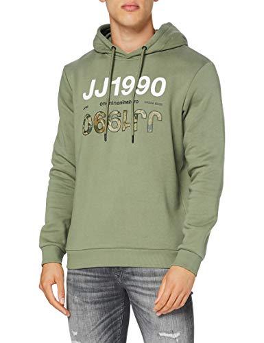 JACK & JONES JCOART Sweat Hood Sweatshirt Capuche, Vert Lichen, L Homme