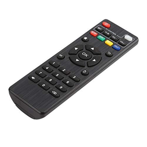 ASFD Control Remoto IR Smart TV Box para Android TV Box MXQ / M8N / M8C / M8S / M10 / M12 / T95N / T95X / T95 Control Remoto de Repuesto (Negro)