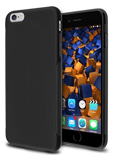 mumbi Hülle kompatibel mit iPhone 6 Plus / 6S Plus Handy Case Handyhülle double GRIP, schwarz