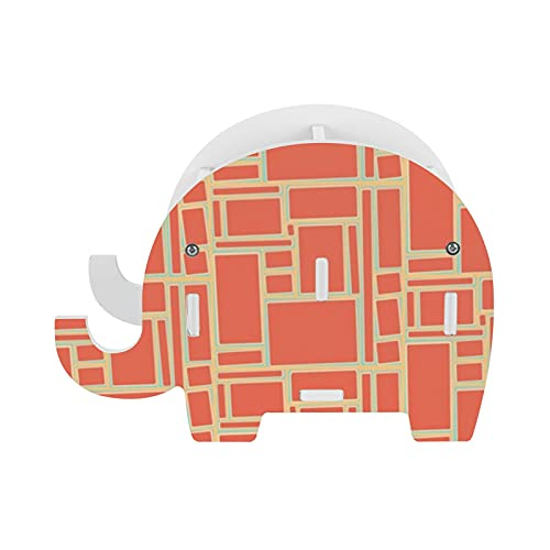 Soporte de lápiz elefante mediados de siglo moderno color azulejos naranja soporte de almacenamiento Pot teléfono titular contenedor caja de papelería