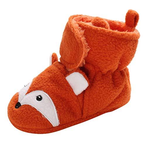 TOPKEAL Zapatos de Animales Bebé Recién Nacido Zapatillas de Deporte con Estampado Zorro Primeros Pasos de Algodón