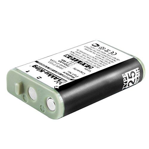 Akku-King Akku kompatibel mit Panasonic KX-GA271W, KX-TD7680, KX-TG2352, RadioShack 23-966 - ersetzt HHR-P103 - NI-MH 700mAh