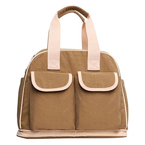 ファッションマミーパッケージ多機能の母親の赤ちゃんの赤ちゃんは、バッグを生産するために大容量の対角線の妊娠中の女性を外出する ( 色 : キャメル )