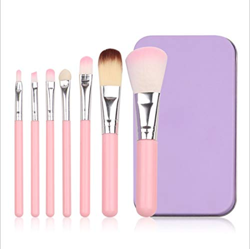 QXX-Make-up Brush Pinceau de Maquillage, avancée Fondation synthétique Correcteur Eye Shadow Set (7pcs, Rose)