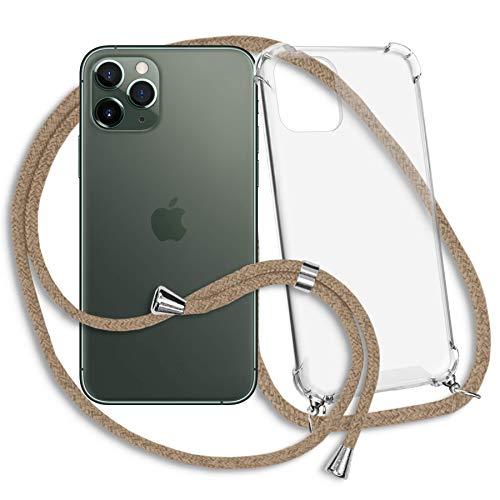mtb more energy Cadena para teléfono móvil compatible con Apple iPhone 11 Pro (5,8 pulgadas) – Beige – Funda para Smartphone para colgar – Carcasa de TPU resistente antigolpes