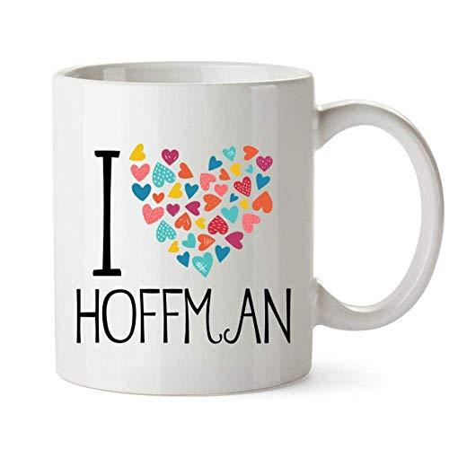 Amo la taza colorida de los corazones de Hoffman 11 onzas