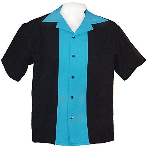 Boys Bowling Shirts Youth Sizes Small 8-9 Yrs, Medium 10-11 Yrs, Large 12-13 Yrs (Large, Turquoise)