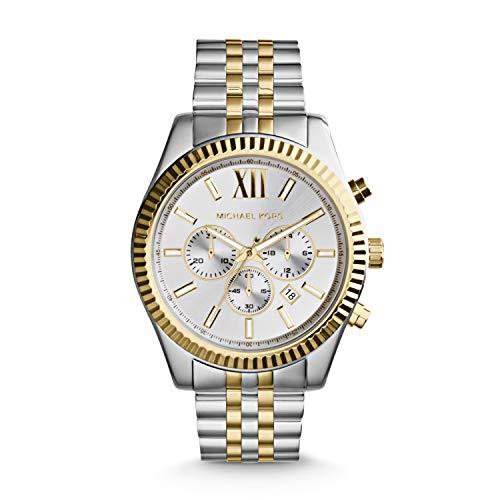 Michael Kors Herren Chronograph Quarz Uhr mit Edelstahl Armband MK8344