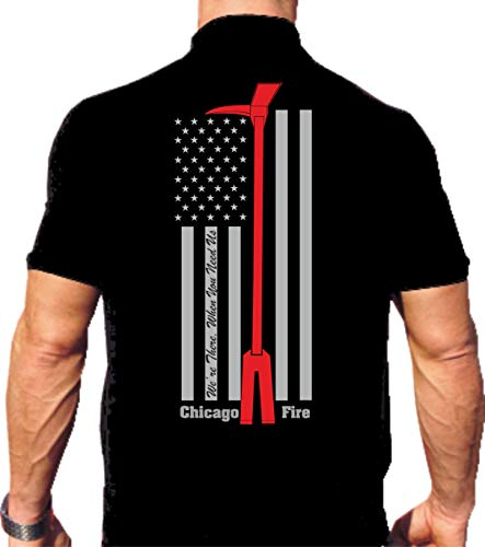 FEUER1 - Polo para hombre, color negro Flag Halligan Tool -