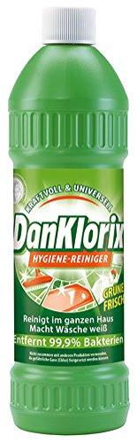 DanKlorix Hygiene-Reiniger Grüne Frische, entfernt 99,9 % Bakterien - 1.5L
