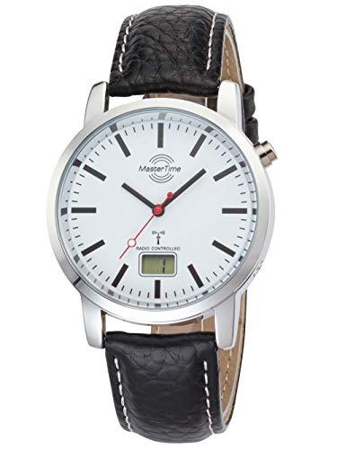 Master Time Funk Quarz Herren Uhr Analog-Digital mit Leder Armband MTGA-10592-20L