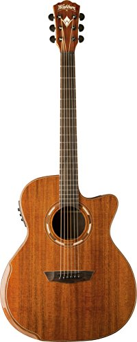 Washburn 6 String Acoustic-Electric Guitar, Natural (WCG55CE-O)