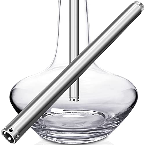 DFESKAH Shisha Tauchrohr mit Diffusor, Hookah Tauchrohr mit M16 Gewinde, 26cm Länge Universal Tauchrohr mit abgeschraubtem Diffusor aus V2A Edelstahl | geeignet für meisten großen Wasserpfeifen