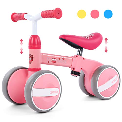 Peradix Baby Balance Bikes Adjustable Bicycle | Riding Toys for 10-36 Months Old Toddlers Children Boys Girls | No Pedal Silent Wheels 1 2 3 Year Old Infant Toddler Bicycle | Best First Birthday Gift