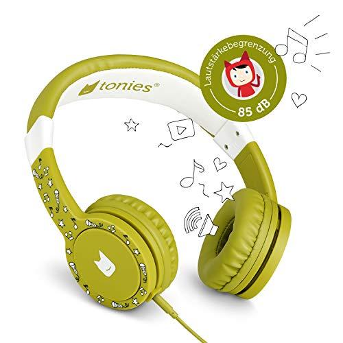 Tonie-Lauscher grün: Kinder Kopfhörer passend zur Toniebox - Lautstärke reguliert, Abnehmbares Kabel, Größenverstellbar, Bewegliche Ohrmuscheln