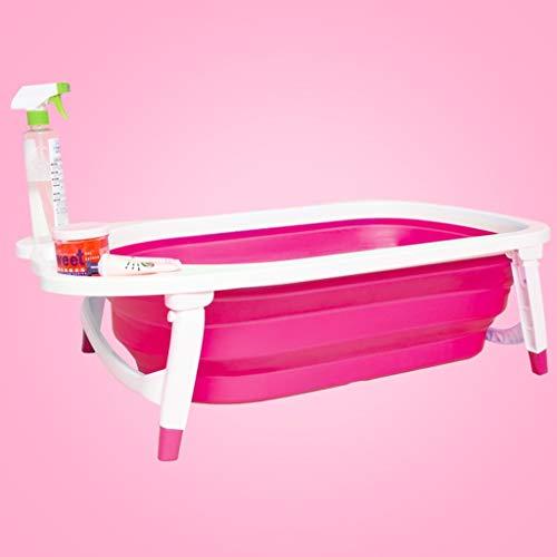 L@LILI Bébé Baignoire Pliante pour Les Enfants Peuvent s'asseoir allongé Grand épaississement Bain Nouveau-né Baril bébé bébé Maison Baignoire