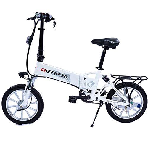 Hokaime Bicicleta eléctrica Plegable Adulto Bicicleta de 16 Pulgadas, Equipada con 36V Puerto de Bicicleta eléctrica USB 250W