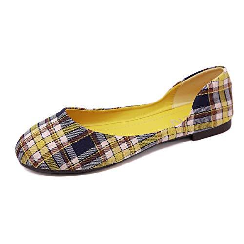 Bailarinas para Mujer, Morbuy Zapatos Bailarinas Básicas Planas de Mujer Zapatos de Primavera Verano Otoño Estilo Plaid