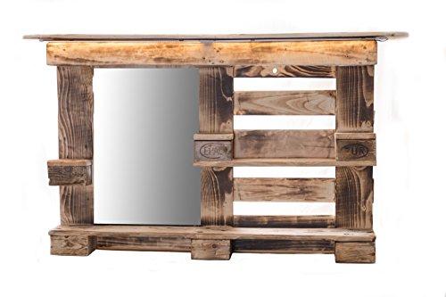 RicoNado Palettenmöbel, Spiegelschrank aus Europaletten, Badezimmerspiegel