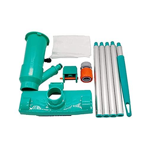 Kit de limpieza de piscina Piscina Jet Aspiradora Mini chorro portátil Limpiador submarino con 5 secciones Herramienta de limpieza de polos para piscina, spas, bañera de hidromasaje, estanques y fuent