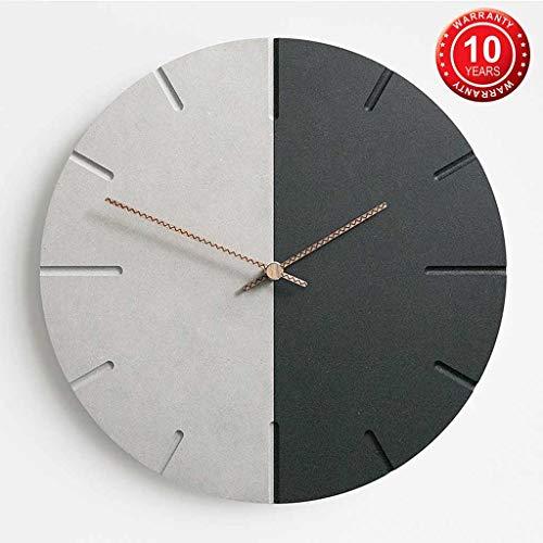 DXIUMZHP Wandklokken, moderne, minimalistische wandklok voor thuis, creatieve kunst klok in de woonkamer, stille wandklok in restaurant, Suzuki-uurwerk, garantie voor 10 jaar