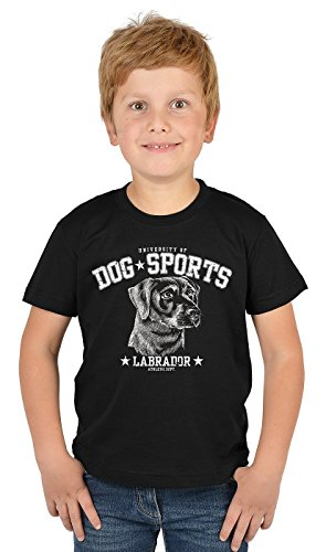 Labrador Kinder T-Shirt Hunderassen Kindershirt : Dog Sports Labrador - Hunde Motiv T-Shirt Kids Gr: L